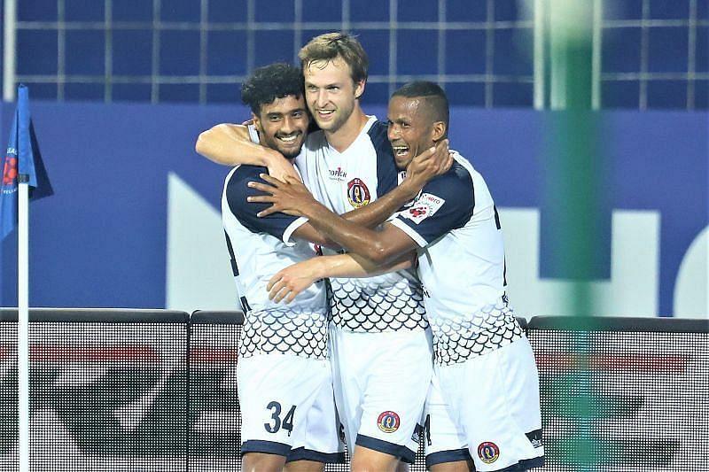 Matti Steinmann (centre) has been the star performer for SC East Bengal this season (Courtesy - ISL)