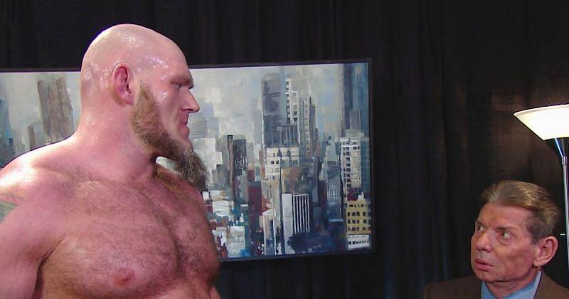 Lars Sullivan and Vince McMahon
