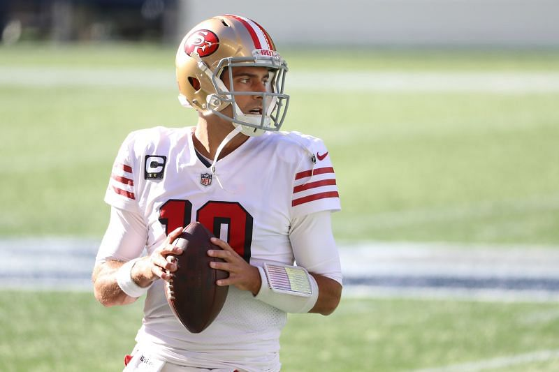 San Francisco 49ers in action against the Seattle Seahawks
