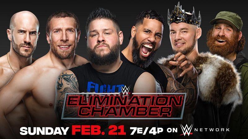 WWE Elimination Chamber - Cesaro vs. Daniel Bryan vs. Kevin Owens vs. Jey Uso vs. King Corbin vs. Sami Zayn