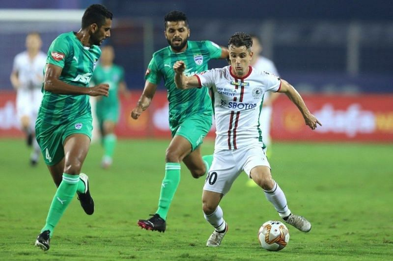 Marcelinho (R) has made a quick impact since moving to ATK Mohun Bagan from Odisha FC (Courtesy - ISL)