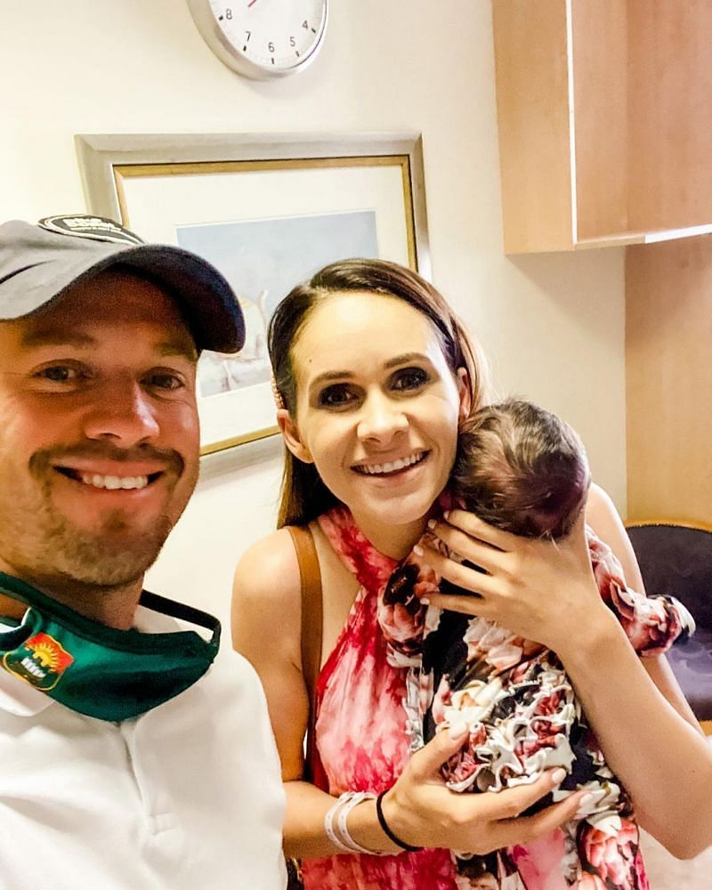Ab de villiers with his wife Danielle de Villiers and his daughter