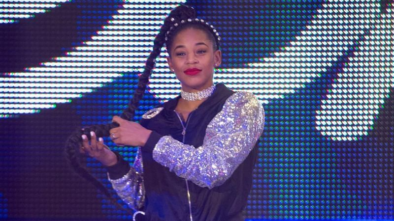 Bianca Belair sometimes uses her hair as a weapon