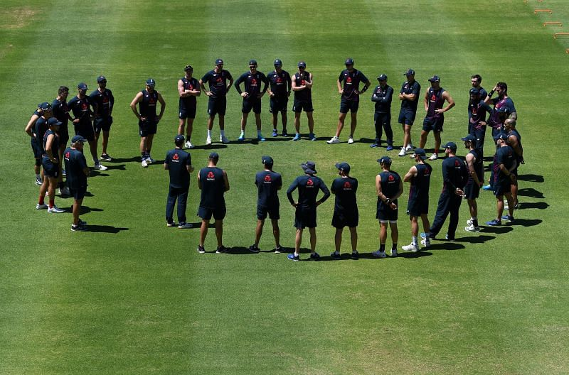 Team England in a training session