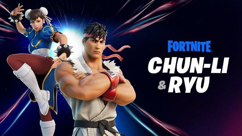 Fortnite x Street fighter will bring Ryu and Chun-Li to Fortnite Chapter 2 - Season 5 (Image via Epic Games)