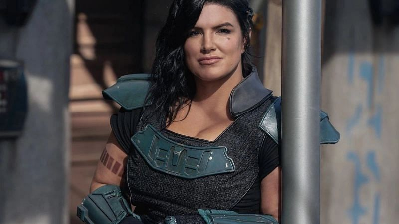 """Gina Carano was recently fired from """"The Mandalorian"""" (Image via Disney/Lucasfilm)"""