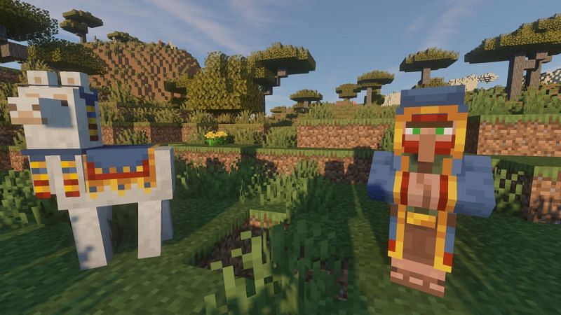 A Wandering Trader and his bros (Image via Minecraft)