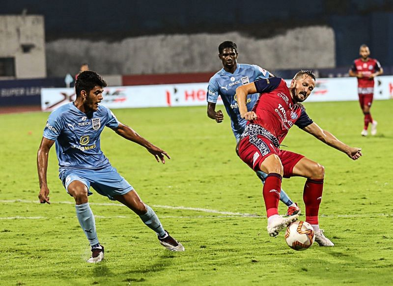 Jamshedpur FC drew 1-1 with Mumbai City FC in their first meeting of the season. (Image: ISL)