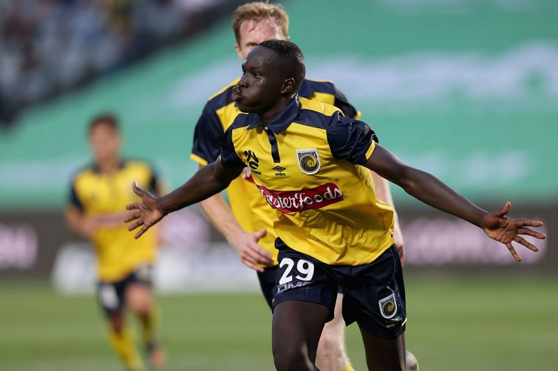 Alou Kuol is making headlines at Central Coast Mariners.