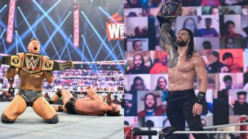 WWE चैंपियन द मिज और यूनिवर्सल चैंपियन रोमन रेंस