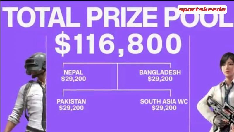 The PMCO 2021 Spring Split South Asia prize pool distribution