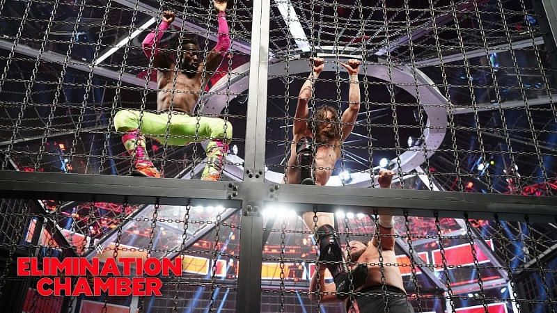 Kofi Kingston is known for doing unique spots in his WWE matches, and the Elimination Chamber is no exception.