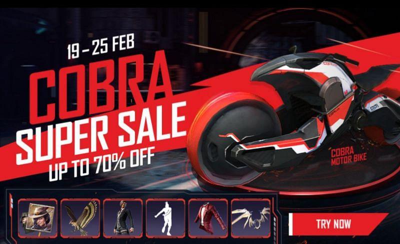 New Cobra Super Sale Event in Garena Free Fire