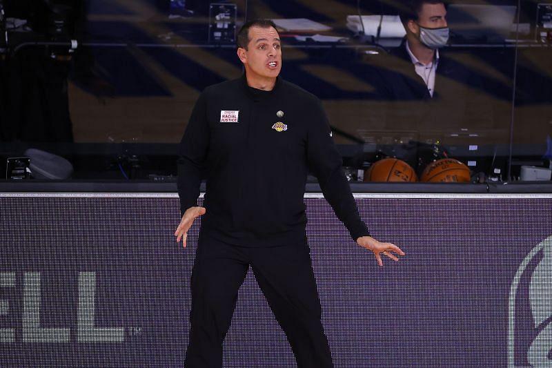 Lakers head coach Frank Vogel
