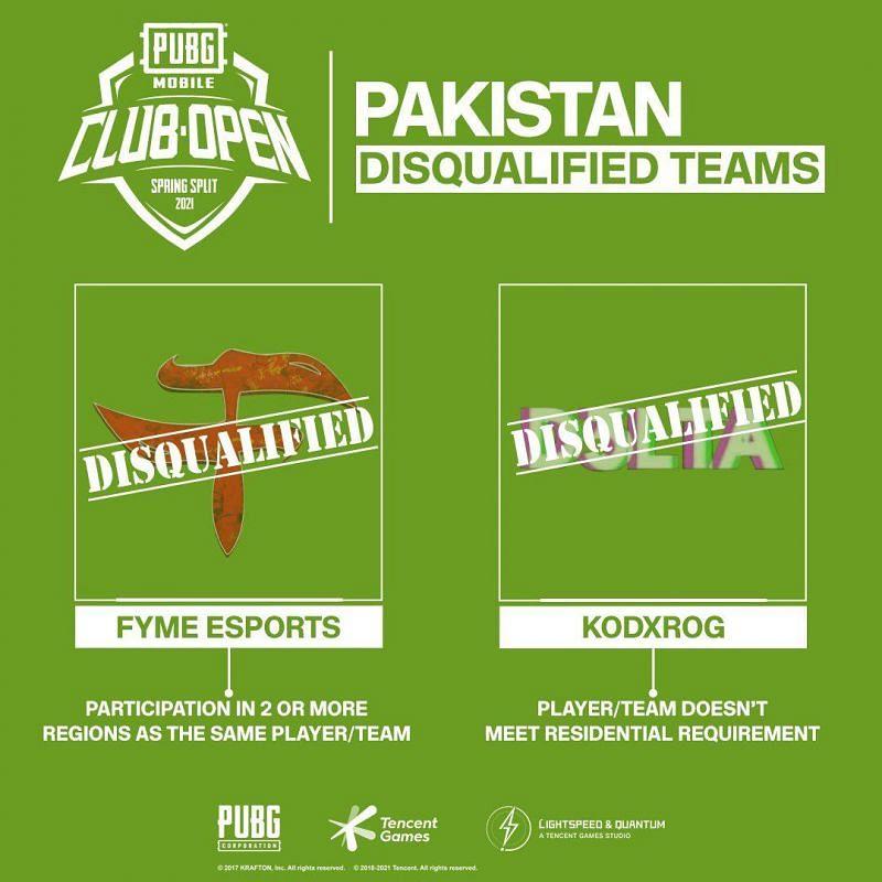 PMCO Spring split 2021 Pakistan