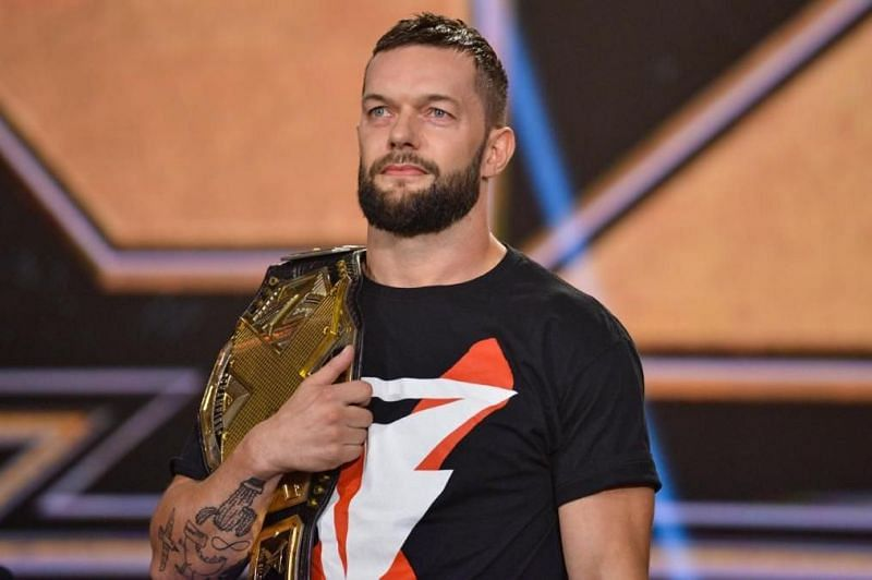 Finn Balor with the NXT Championship