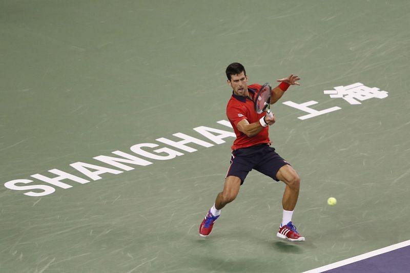 Novak Djokovic at the Shanghai Rolex Masters