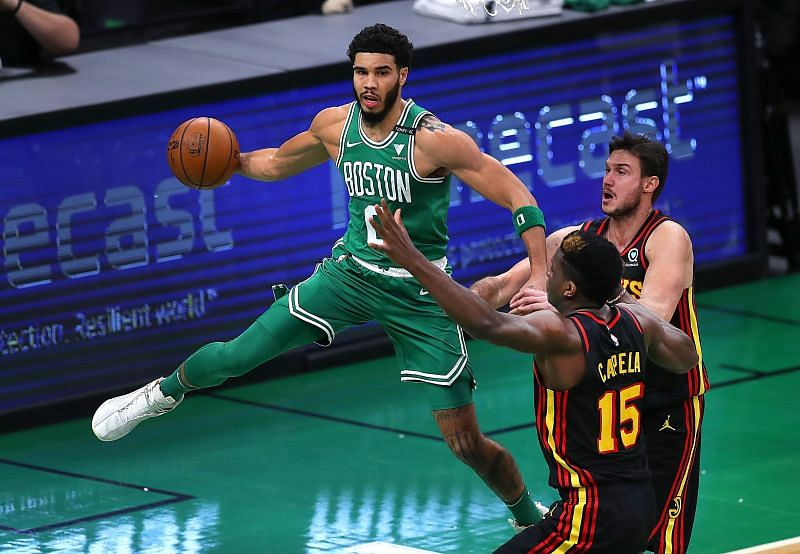 Jayson Tatum of the Boston Celtics. Photo Credit: The Boston Globe.
