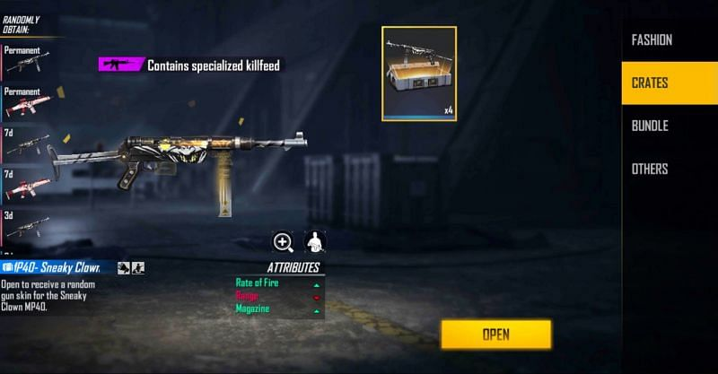 4x MP40 – Sneaky Clown Weapon Loot Crate