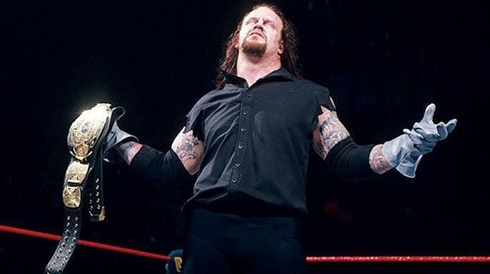 The Undertaker after defeating Sycho Sid
