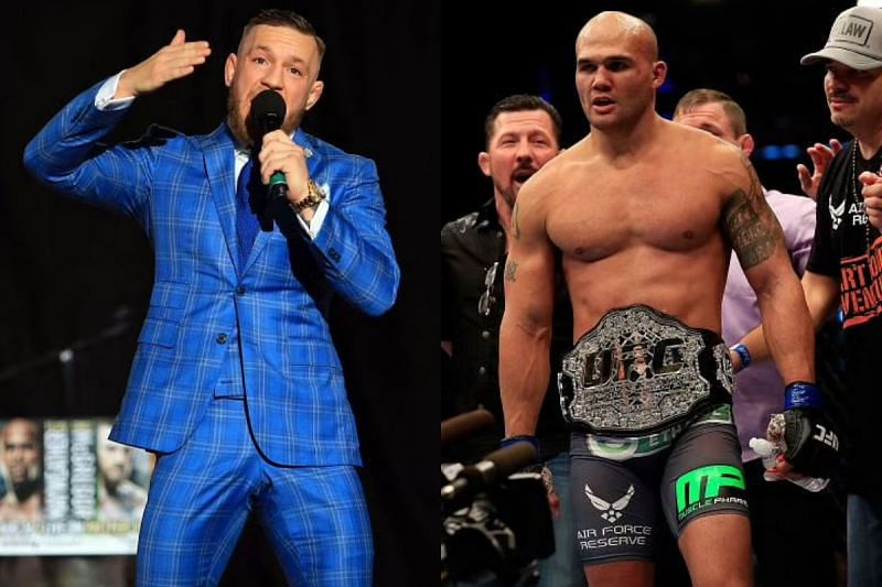 Conor McGregor (left) and Robbie Lawler (right)
