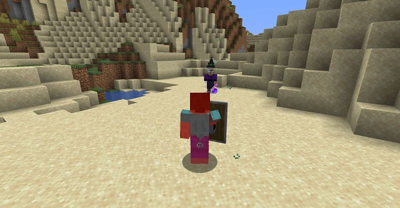 Shields will not offer any protection from splash potions in Minecraft. (Image via Minecraft)