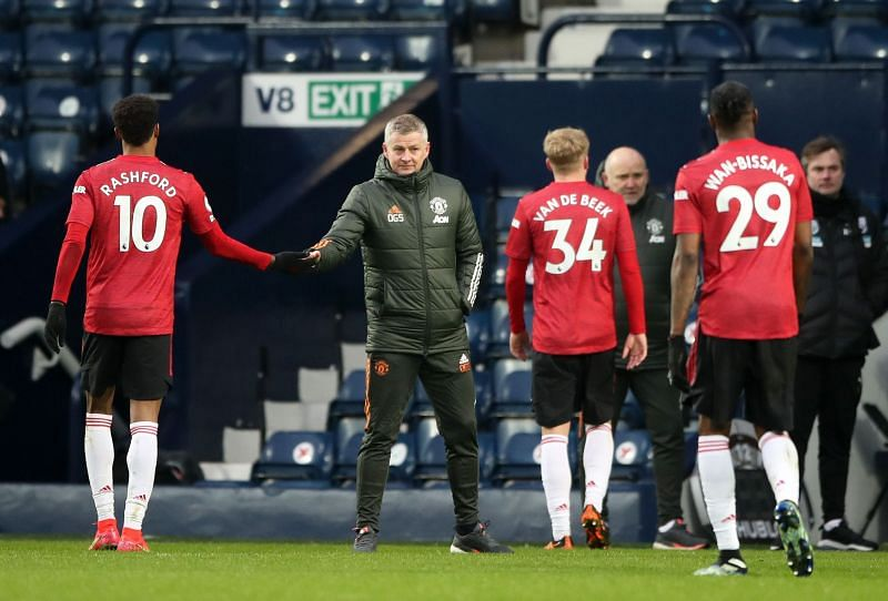 Manchester United drew 1-1 against West Brom on Sunday