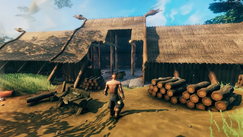 How to reinforce roofs in Valheim (Image via Iron Gate Studios)