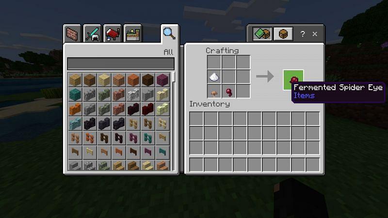 crafting fermented spider eye in Minecraft