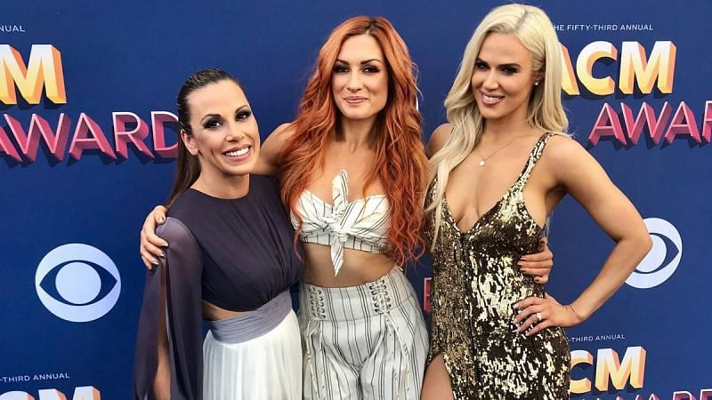 Lana, Mickie James and Becky Lynch in WWE