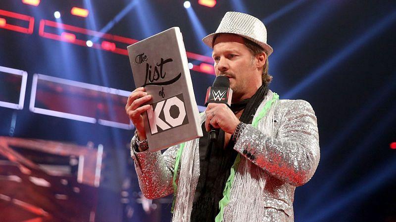 "Chris Jericho with the ""List of KO"""