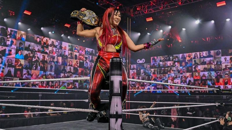 Io Shirai is one of the many title holders who had a good night at NXT TakeOver Vengeance Day.