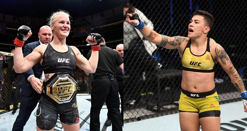 Valentina Shevchenko (Left) faces the biggest threat to her flyweight title in Jessica Andrade (Right) at UFC 261