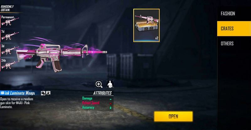 2x M4A1- Pink Laminate Weapon Loot Crate