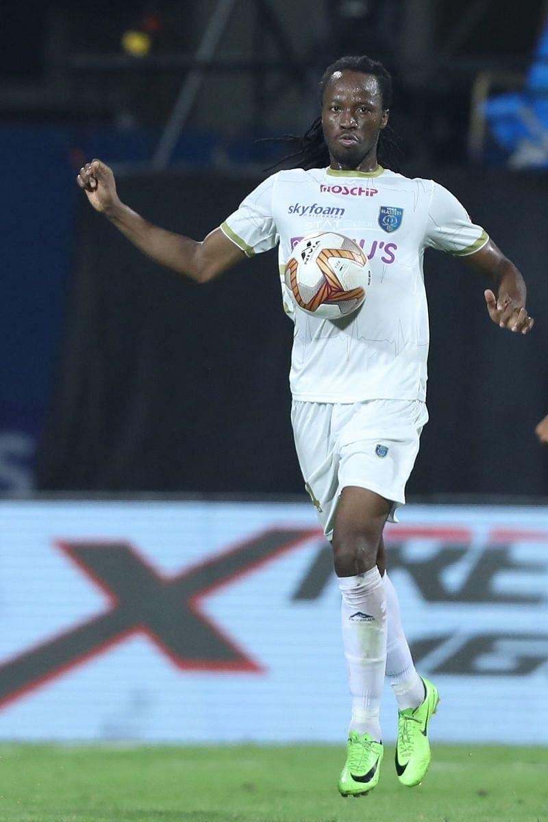 Kerala Blasters centre- back Bakary Kone gifted two goals to Hyderabad FC (Image Courtesy: ISL Media)