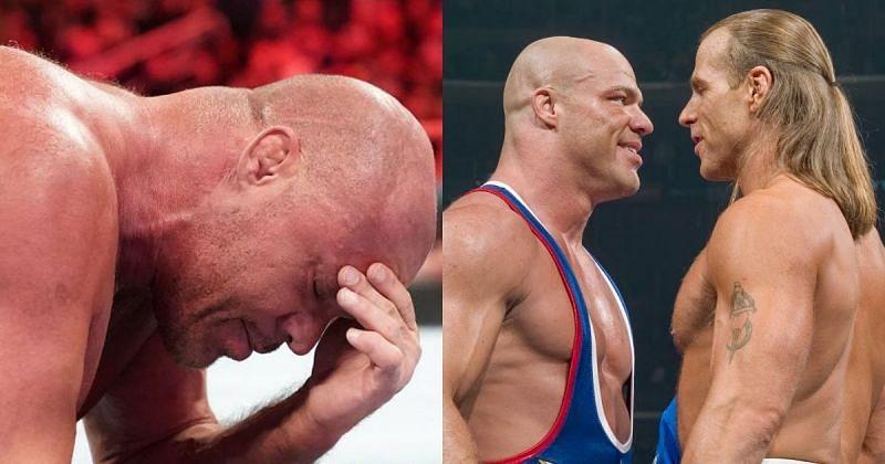 Kurt Angle and Shawn Michaels.