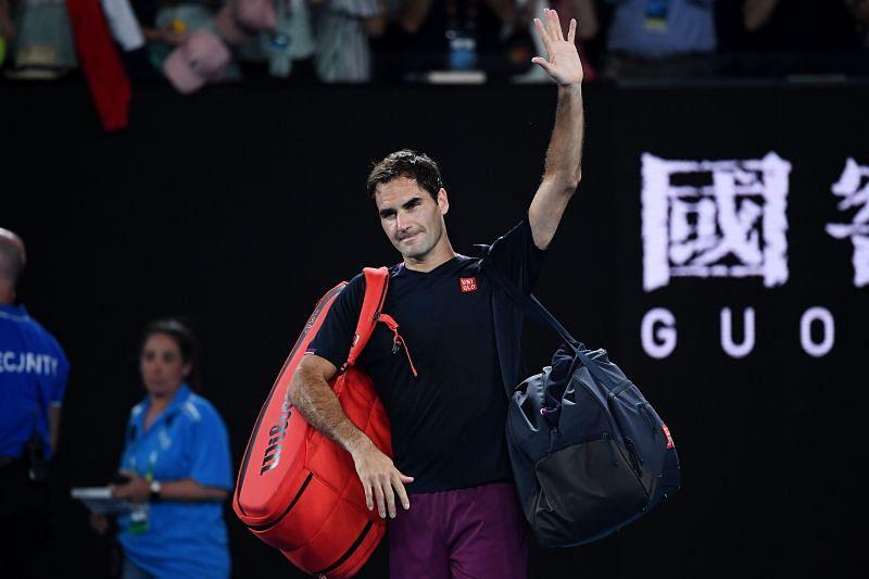 Roger Federer after losing to Novak Djokovic at the 2020 Australian Open