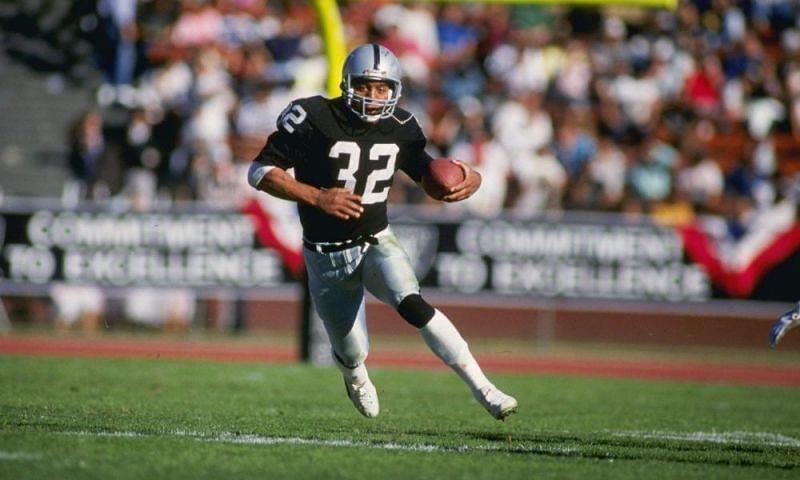 Los Angeles Raiders running back ran wild on the Washington Redskins