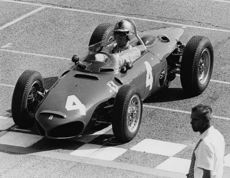 Wolfgang Von Trips in his car before the start of the Italian Grand Prix, 1961. Photo: Getty Images