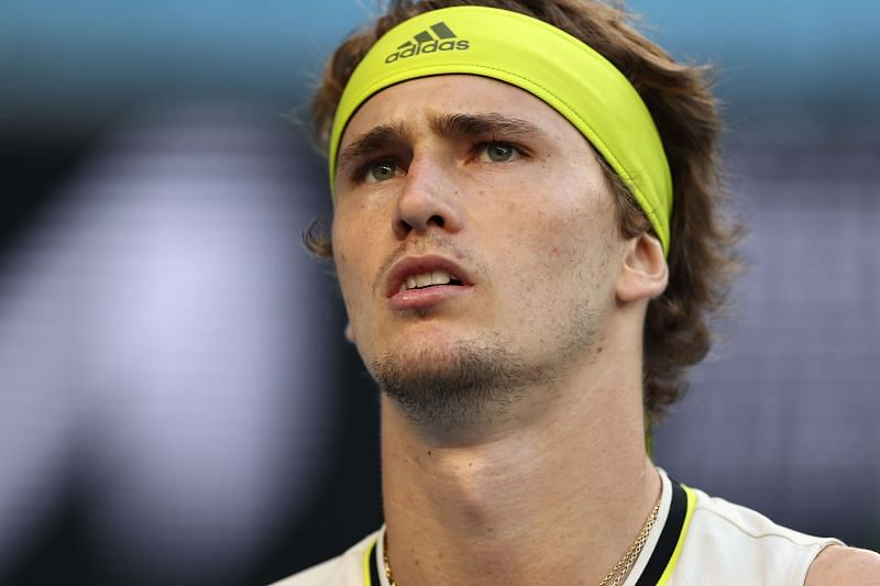 Alexander Zverev looks on at the Australian Open