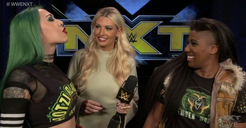 Shotzi Blackheart and Ember Moon on NXT