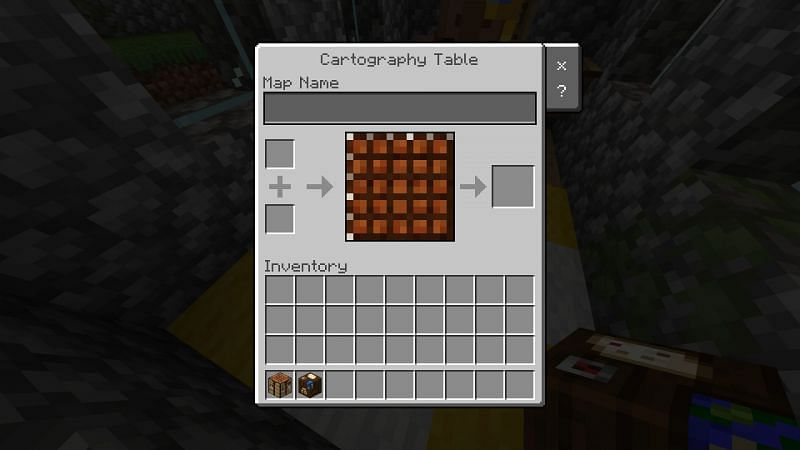 Cartography tables UI