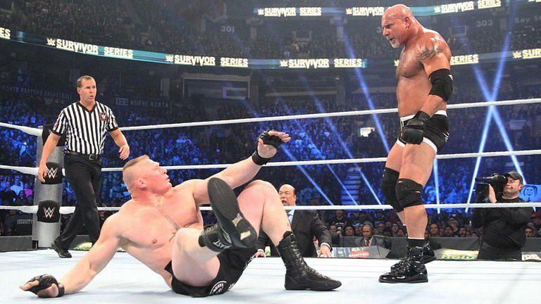 Brock Lesnar and Goldberg