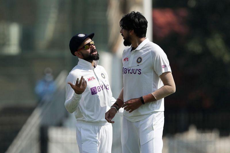 Virat Kohli (left) and Ishant Sharma (right)