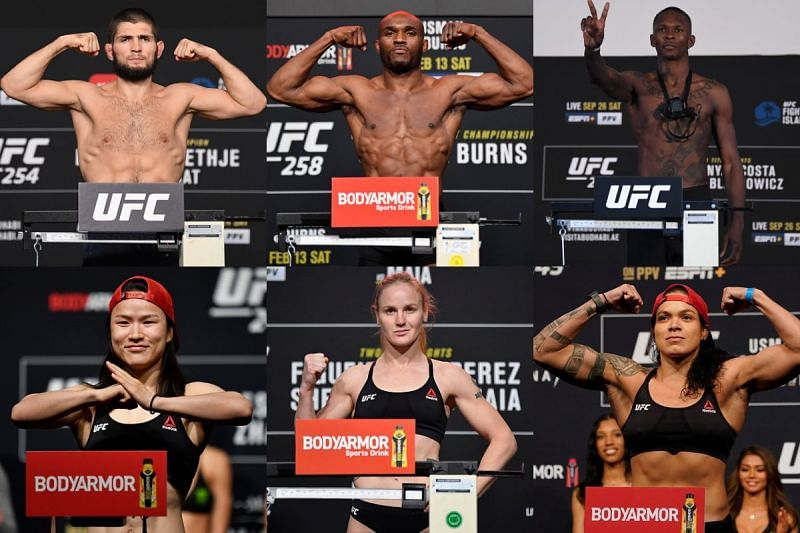 UFC fighters compete in nine separate weight classes