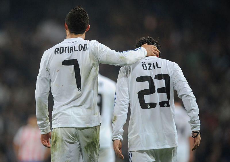 Cristiano Ronaldo and Mesut Ozil formed a great partnership at Real Madrid
