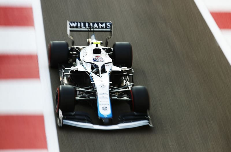 Nicholas Latifi races in his Williams. Photo: Bryn Lennon/Getty Images