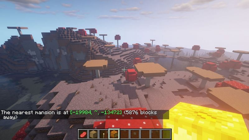 Example of the correct use of /locate command (Image via Minecraft)