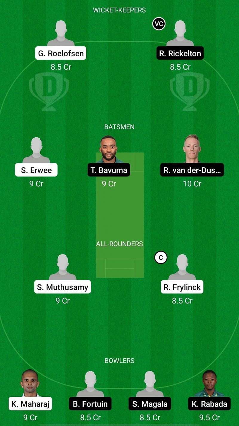 DOL vs HL Dream11 Fantasy Suggestions - CSA T20 Challenge