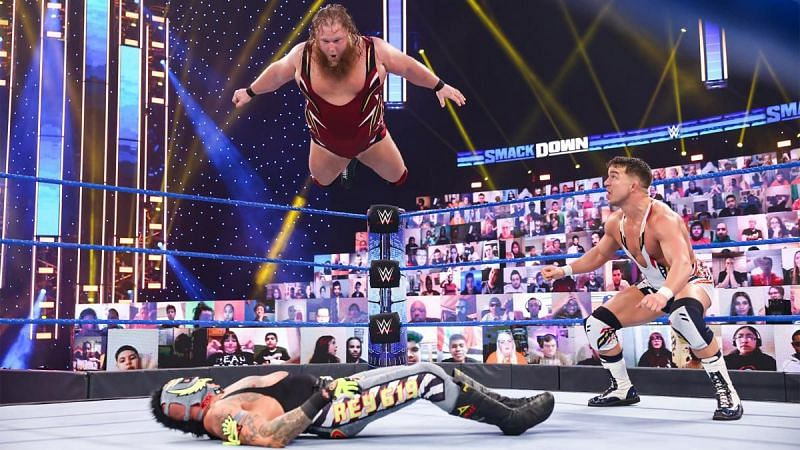 Otis and Chad Gable faced Rey Mysterio and Dominik